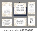 set of wedding suite template... | Shutterstock .eps vector #459986908