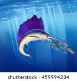 figure sail fish hunt for a... | Shutterstock . vector #459994234