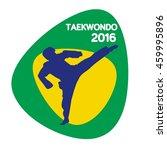 taekwondo icon  vector... | Shutterstock .eps vector #459995896