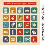 symbols set of food   beverages ... | Shutterstock . vector #459996523