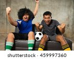 a two people friend cheering... | Shutterstock . vector #459997360