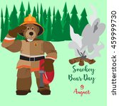 poster 9 august  smokey bear... | Shutterstock .eps vector #459999730