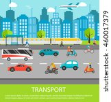 city traffic background with... | Shutterstock .eps vector #460017379