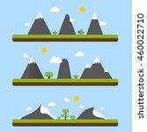 flat mountains  | Shutterstock .eps vector #460022710