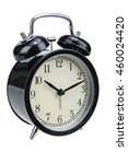 black alarm clock half turned... | Shutterstock . vector #460024420