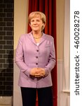 Small photo of LONDON, ENGLAND - JULY 22, 2016: Angela Merkel, Madame Tussauds wax museum. It is a major tourist attraction in London