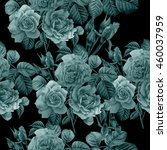 seamless pattern with roses.... | Shutterstock . vector #460037959