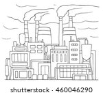 industrial cartoon sketch of... | Shutterstock . vector #460046290