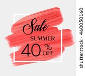 sale season summer 40  off sign ... | Shutterstock .eps vector #460050160