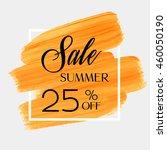 sale season summer 25  off sign ... | Shutterstock .eps vector #460050190