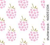 pink raspberry on the white... | Shutterstock .eps vector #460051534