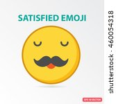 single satisfied emoji.... | Shutterstock .eps vector #460054318
