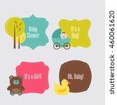 baby theme frames | Shutterstock .eps vector #460061620