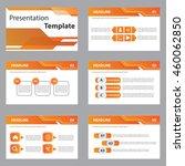 orange presentation template...   Shutterstock .eps vector #460062850