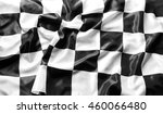 checkered black and white flag  | Shutterstock . vector #460066480
