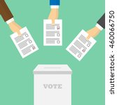 voting concept in flat style.... | Shutterstock .eps vector #460066750
