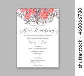 wedding invitation with... | Shutterstock .eps vector #460066780