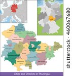 free state of thuringia | Shutterstock .eps vector #460067680