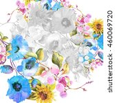 beautiful  watercolor bouquet... | Shutterstock . vector #460069720