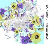 beautiful  watercolor bouquet... | Shutterstock . vector #460069726