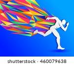 running man  abstract sport...   Shutterstock .eps vector #460079638