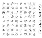 universal doodle icons for... | Shutterstock . vector #460081093