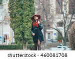 two pretty girls walking in the ... | Shutterstock . vector #460081708