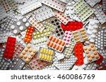 a lot of medicine pills in packs | Shutterstock . vector #460086769