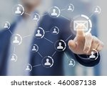 email marketing concept with... | Shutterstock . vector #460087138