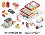 supermarket exterior  online... | Shutterstock . vector #460089694