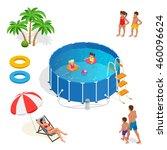 portable plastic swimming pool... | Shutterstock . vector #460096624
