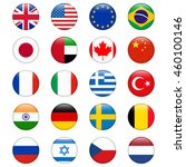 set of popular country flags.... | Shutterstock .eps vector #460100146