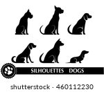 silhouettes of dogs | Shutterstock .eps vector #460112230