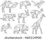 vector set of origami wild... | Shutterstock .eps vector #460114900