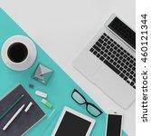 minimal work space concept  ... | Shutterstock . vector #460121344