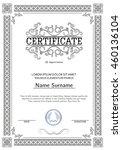 certificate  diploma of... | Shutterstock .eps vector #460136104