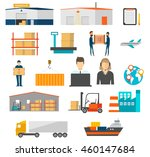 warehouse  delivery and ... | Shutterstock .eps vector #460147684