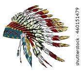 native american indian... | Shutterstock .eps vector #460151479