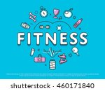 creative idea of flat design... | Shutterstock .eps vector #460171840