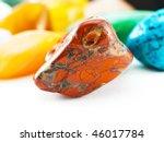 polished red jasper gemstone in ... | Shutterstock . vector #46017784