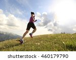 healthy young woman trail... | Shutterstock . vector #460179790