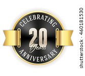 black celebrating 20 years... | Shutterstock .eps vector #460181530