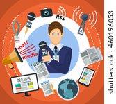 mass media flat creative... | Shutterstock .eps vector #460196053