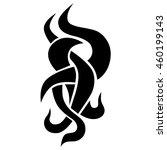tribal pattern tattoo vector...   Shutterstock .eps vector #460199143