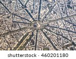 Small photo of Arc de Triomphe from above
