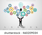 vector businessman  ideas ... | Shutterstock .eps vector #460209034