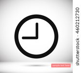clock  time vector icon | Shutterstock .eps vector #460212730