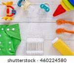 babies goods  cloth diaper ... | Shutterstock . vector #460224580