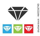 diamond icon. simple logo of...