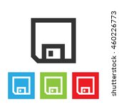 diskette icon. diskette picture ... | Shutterstock .eps vector #460226773